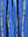 Embroidered Elastic Skirt From Jaipur In Palatinate Blue - PJRSED10MY2