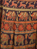 Block Print Jaipuri Wrap Around Skirt In Multicolor - PJRSL22D82