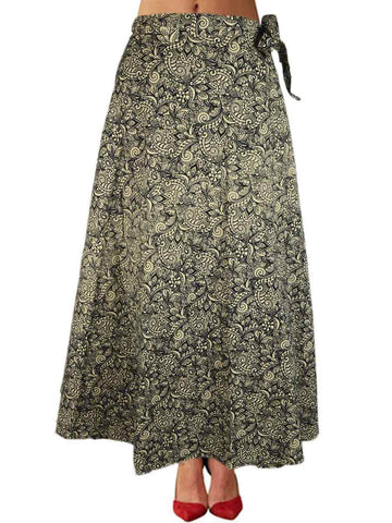 Printed Wrap Around Skirt From Jaipur In Multicolour - PJRSLD22JN8