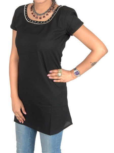 Short Top From Jaipur In Black - PJRTD7MAY7