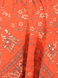 Block Printed Harem Pants From Jaipur In Red - PJRTH10MA14