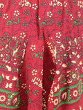 Block Printed Harem Pants From Jaipur In Deep Carmine Pink - PJRTH10MA5