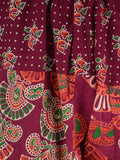 Harem Pant From Jaipur In  Rosewood Red - PJRTH6OCT6