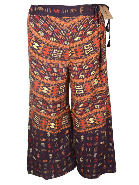 Block Print Jaipuri Palazzo Pants In MultiColour - PJRTPP11MH47