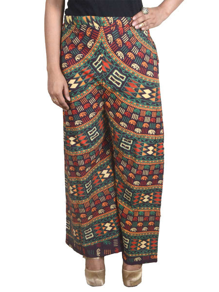 Block Print Jaipuri Palazzo Pants In MultiColour - PJRTPP14AP16
