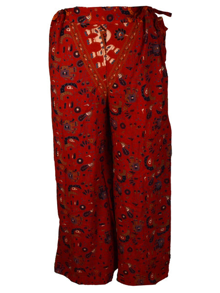 Palazzo Pants In Red - PJRTPP15SP11