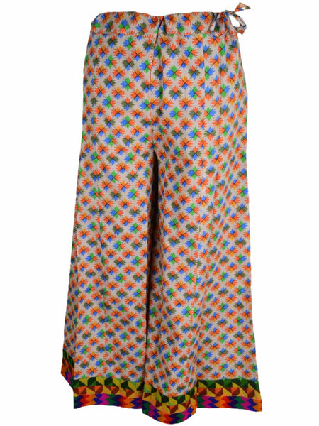 Palazzo Pants In Multicolored Jaipuri Print - PJRTPPB16JN2