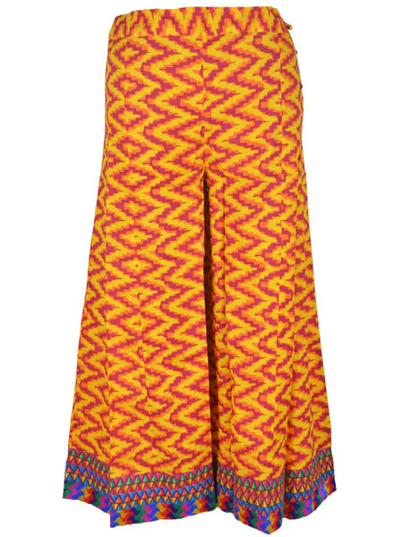 Printed Palazzo Pants In yellow- PJRTPPB4SP1
