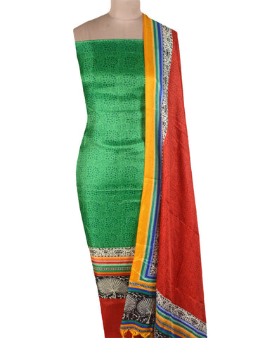 Bhagalpuri Art Silk Suit In Green - PKBS16AG36