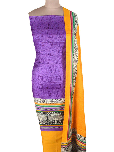 Bhagalpuri Art Silk Suit In Purple - PKBS16AG45