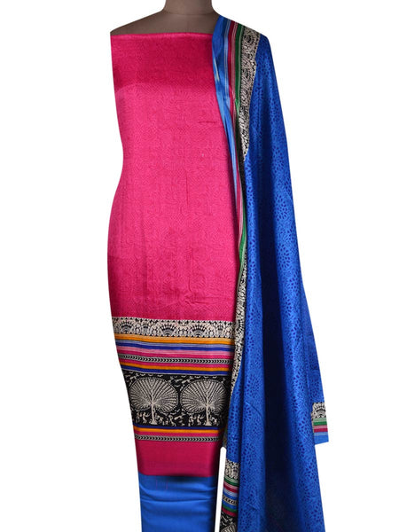 Bhagalpuri Art Silk Suit In Pink - PKBS21SP12