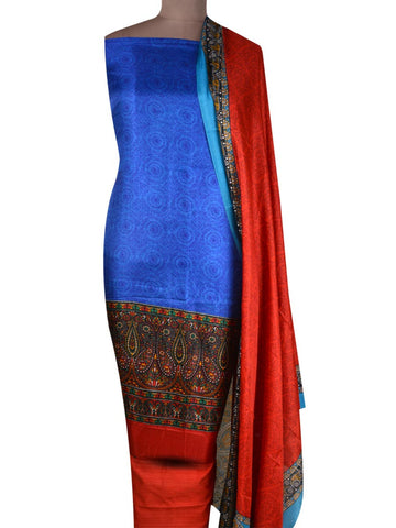 Bhagalpuri Art Silk Suit In Blue - PKBS21SP44