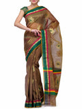 Banarasi Saree In Brown & Green - S1-OPBUSA8N2