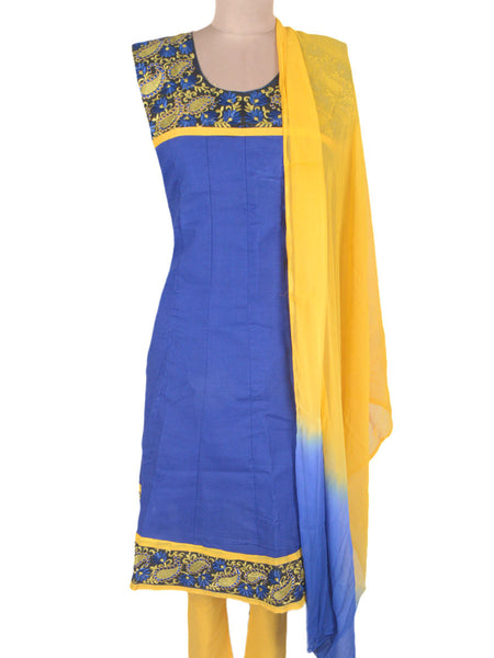 Embroidered Frock From Ahmedabad In Blue - ND-PKGKN11MA1