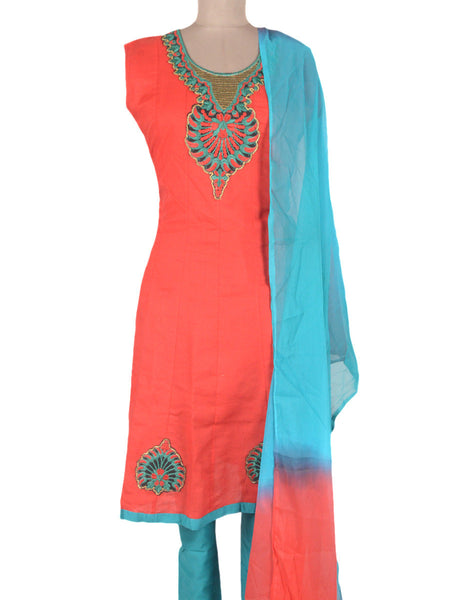 Embroidered Frock From Ahmedabad In Deep Pink - ND-PKGKN11MA2