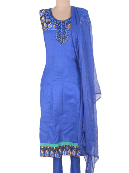 Embroidered Frock From Ahmedabad In Palatinate Blue - ND-PKGKN11MA9
