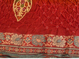 Garhwal Saree From Gujarat In Lava Red - PKGSA17FBY2