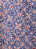 Ajrakh Print Palazzo Pants From Gujarat In Blue Base Colour - PKGTPP9MY6