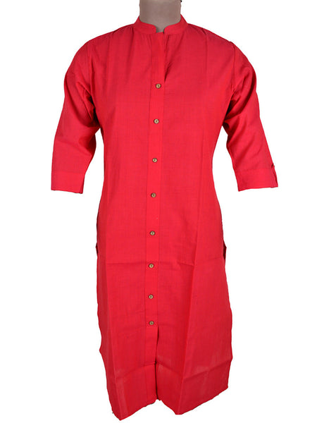 Kurti From Madhya Pradesh In Deep Pink - PKMK6AP3