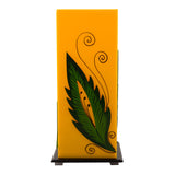 Green Leaf Wooden Block Acrylic Yellow Table Lamp - EC-HJRME24MA73