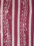 Batik Print Cotton Suit From Gujarat In Red & White - PMGSL11MA40
