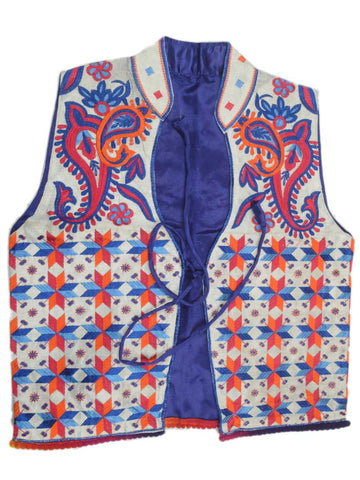Punjabi Waist Coat In Purple - PPPJ29D10