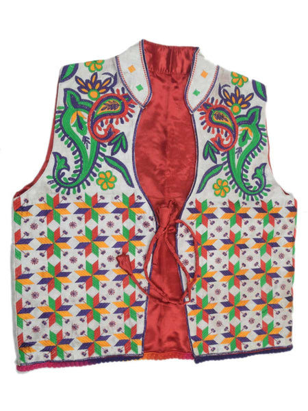 Punjabi Waist Coat In Red - PPPJ29D2