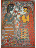 Hand Made Lord Krishna and Radha Ras Leela Painting From Mithilanchal - MH-HDP19SP2