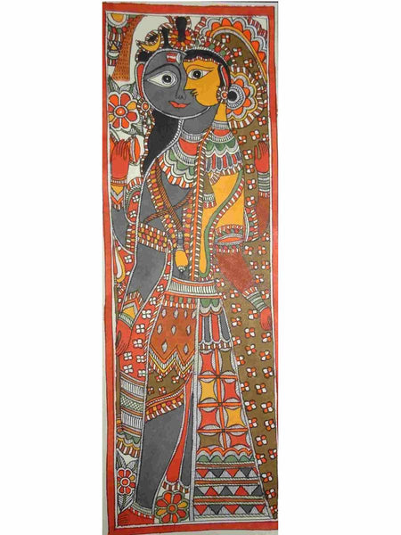 Hand Made Lord Ardhnarishwar Painting From Mithilanchal - MH-HDP19SP9