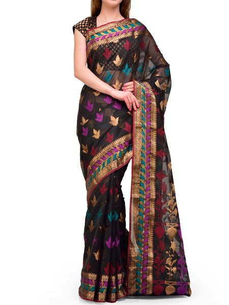 Banarasi Saree In Black - S1-OPBUSA23AR45