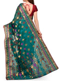 Banarasi Saree In Green - S1-OPBUSA23AR42