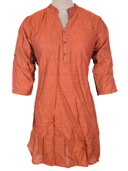 Kurti From Madhya Pradesh In Brown - PKMSK26AR13