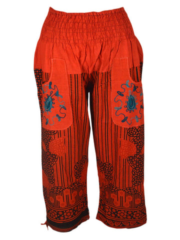 Block Print Pyjama from Jaipur In Lava Red - PTPD28MH2