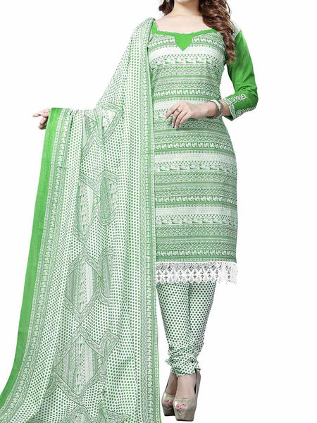 Cotton Suit From Kolkata In Green - FPKWA9AG97