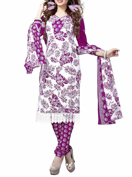Cotton Suit From Kolkata In Purple - FPKWA9AG99