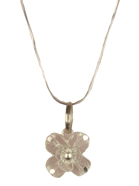 Pendant With Filigree In Flower Shape-CCOJN13FB12