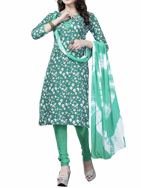 Cotton Suit From Kolkata In Green - FPKWA9AG107