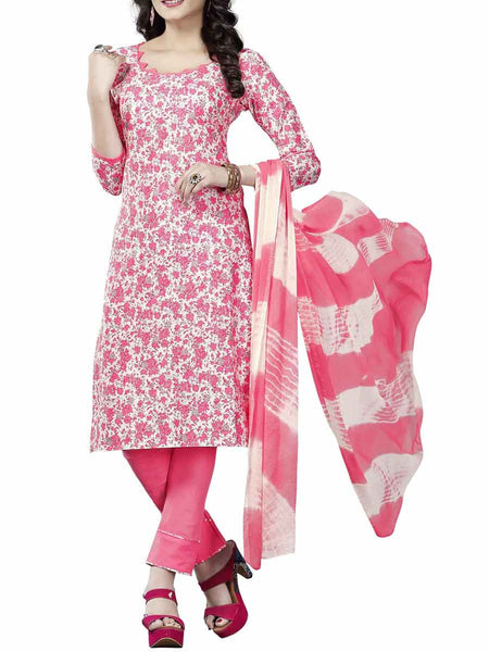 Cotton Suit From Kolkata In Pink - FPKWA9AG108
