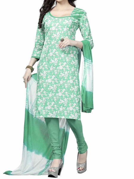 Cotton Suit From Kolkata In Green - FPKWA9AG115