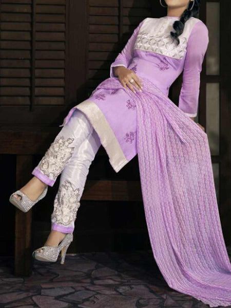 Purple Georgette Dress Material From Surat - TA-ASGS20SP21