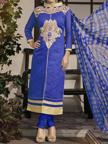 Blue Georgette Dress Material From Surat - TA-ASGS20SP25