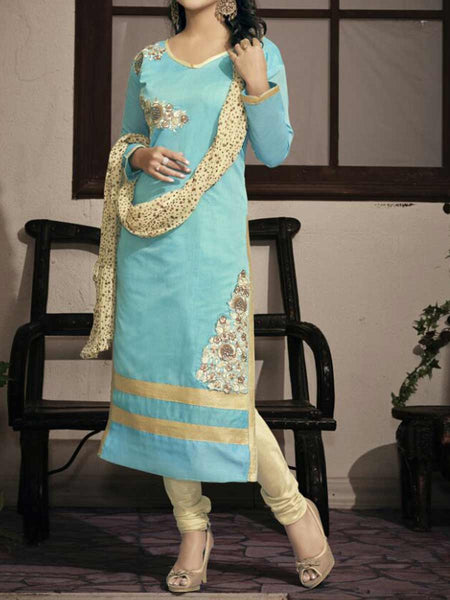 Sky Blue Georgette Dress Material From Surat - TA-ASGS20SP26