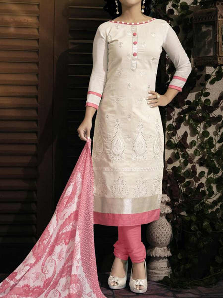 Cream Georgette Dress Material From Surat - TA-ASGS20SP27