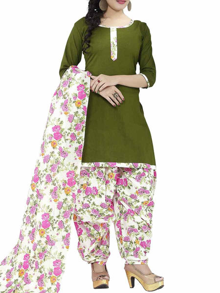 Cotton Suit From Kolkata In Green - FPKWA9AG127