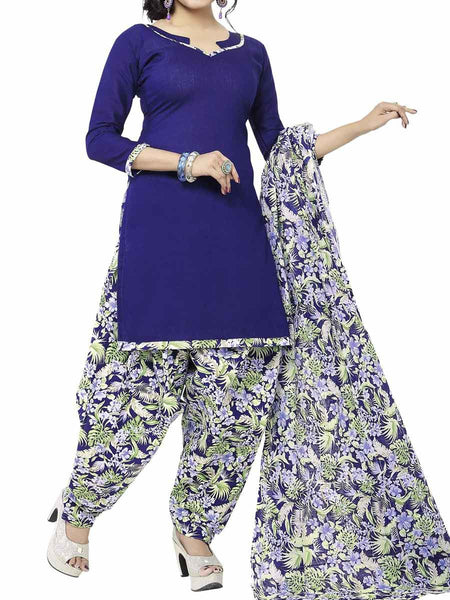 Cotton Suit From Kolkata In Blue - FPKWA9AG129