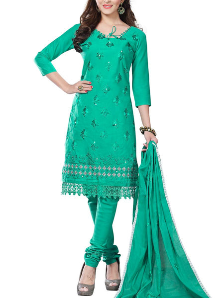 Cotton Suit From Kolkata In Mint Green - FPKWA16JN104