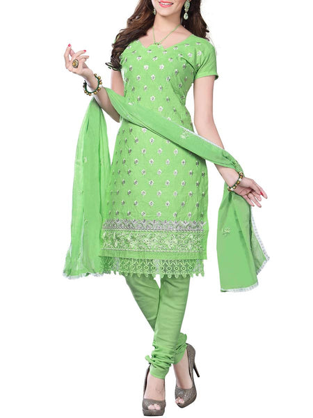 Cotton Suit From Kolkata In Green - FPKWA16JN106