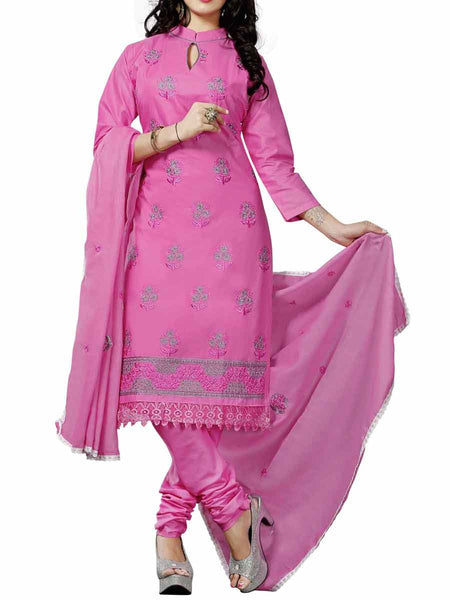 Cotton Suit From Kolkata In Pink - FPKWA9AG133