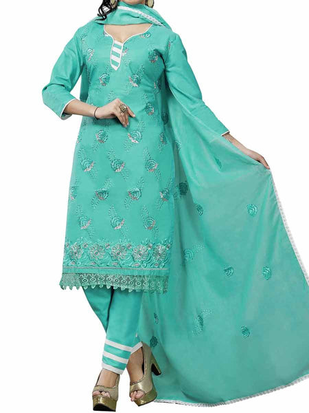 Cotton Suit From Kolkata In Green - FPKWA9AG134