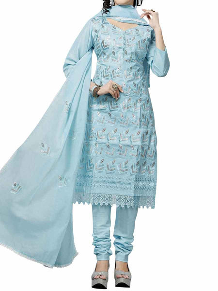 Cotton Suit From Kolkata In Blue - FPKWA9AG138